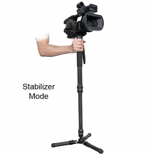 VariZoom CHICKENFOOT professional carbon fiber monopod for video and photo