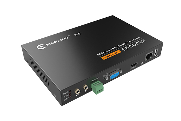 Kiloview M2 H.264 HDMI+VGA Dual Input Live Video Encoder